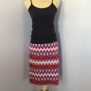 Sequin Hearts Stretch Skirt Large